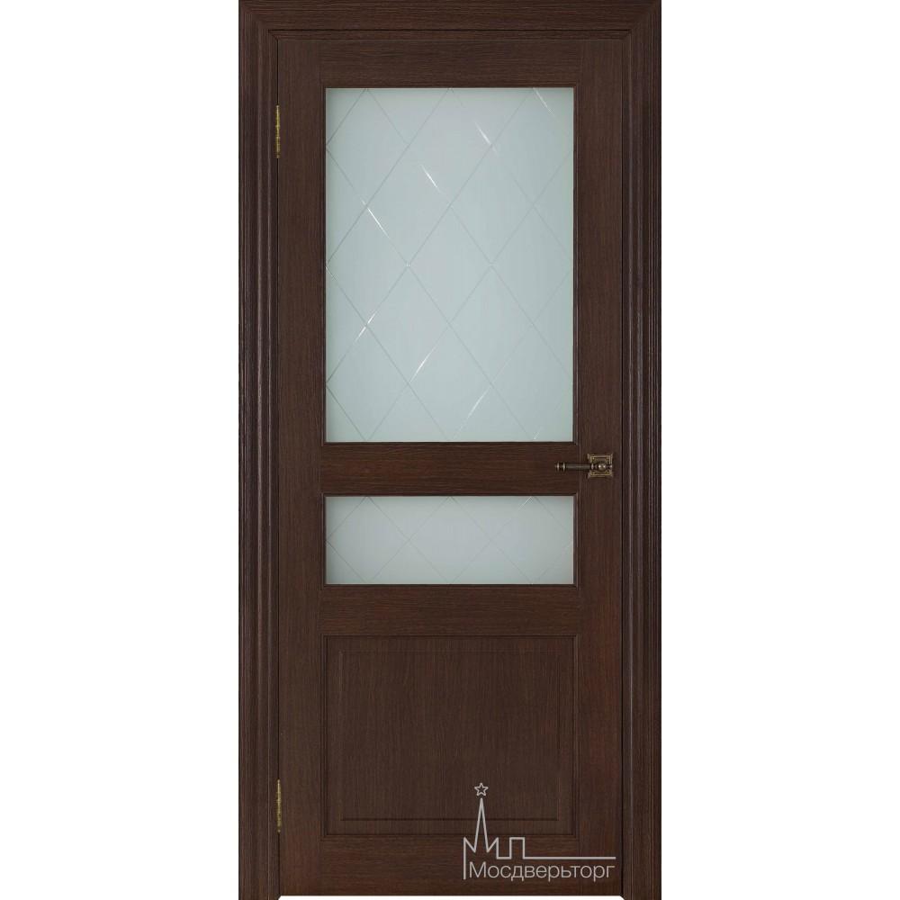 Межкомнатная дверь Экошпон 40006 Дуб французский, стекло