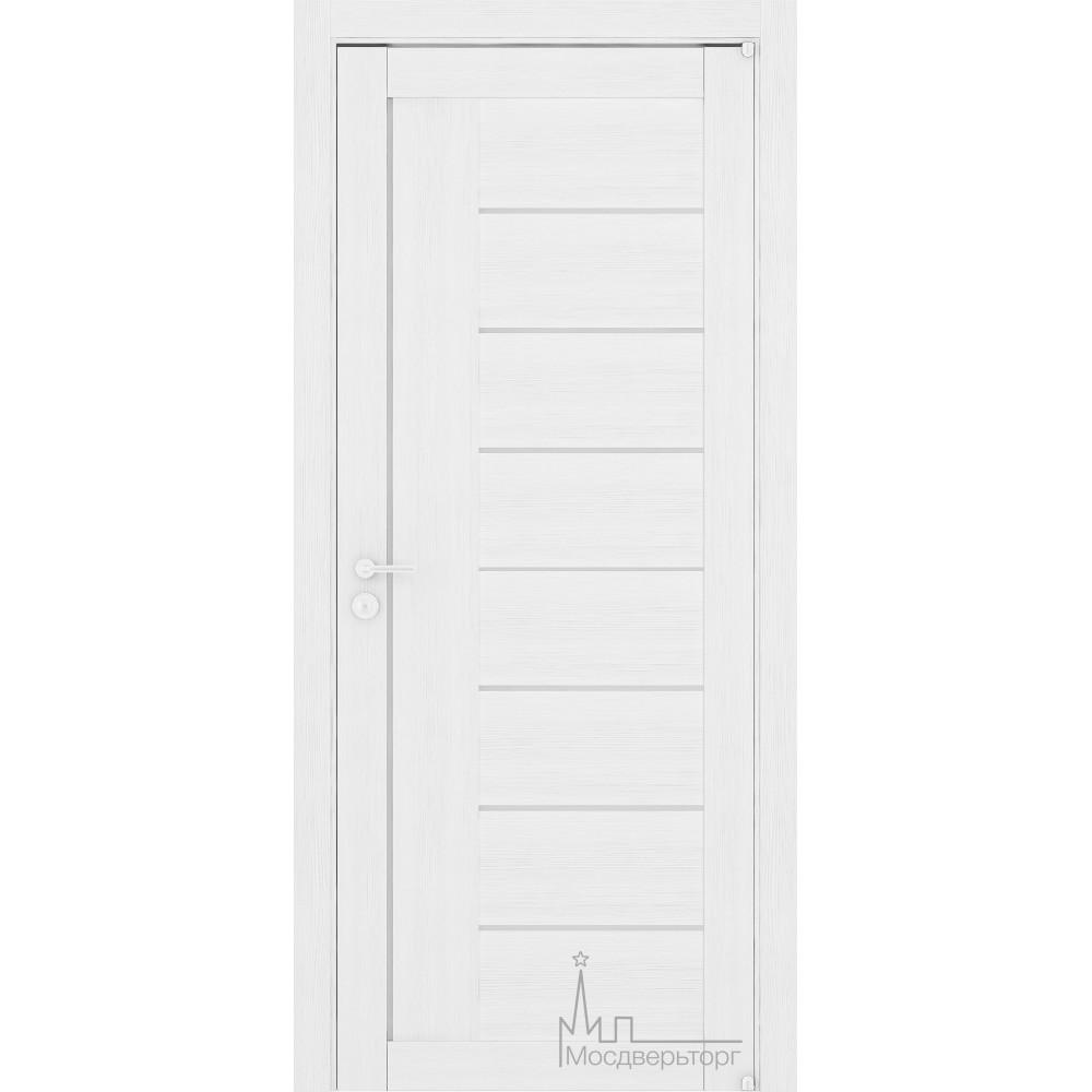 Межкомнатная дверь Экошпон 2110 белый велюр