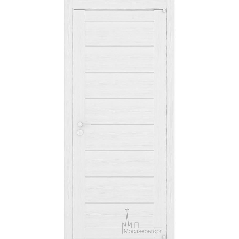 Межкомнатная дверь Экошпон 2125 белый велюр