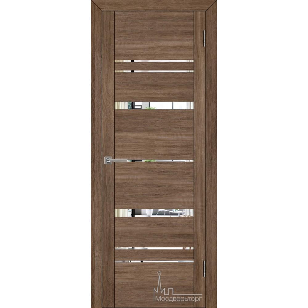 Межкомнатная дверь Экошпон 30027 серый велюр