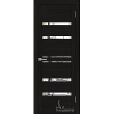 Межкомнатная дверь Экошпон 30030 шоко велюр (зеркальные вставки)
