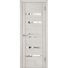 Межкомнатная дверь Экошпон 30030 капучино велюр (зеркальные вставки)