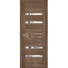 Межкомнатная дверь Экошпон 30030 серый велюр (зеркальные вставки)