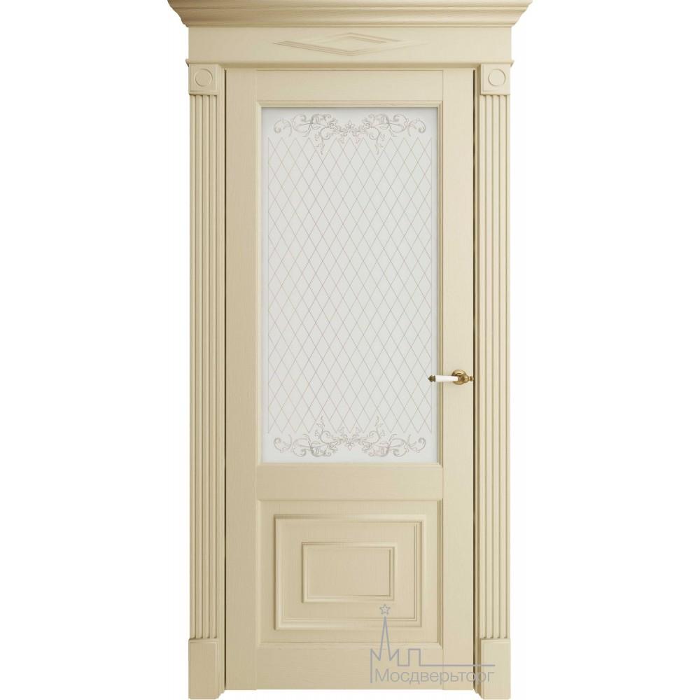 Межкомнатная дверь Экошпон 62002 керамика стекло