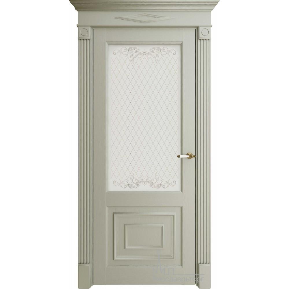 Межкомнатная дверь Экошпон 62002 серая стекло
