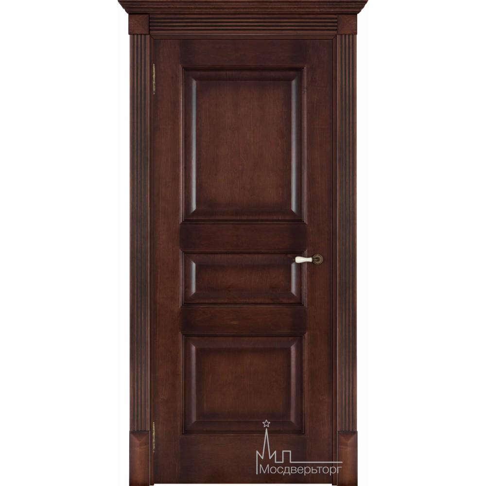 Межкомнатная дверь Терзо орех тон 7, глухая натуральный шпон