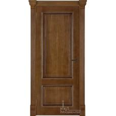 Межкомнатная дверь Гранд-1 дуб патина Антико глухая