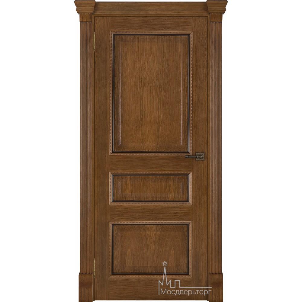 Межкомнатная дверь Гранд 2 дуб патина Антико, глухая