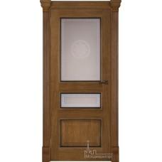 Межкомнатная дверь Гранд 2 дуб патина Антико, стекло