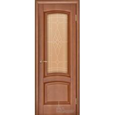 Межкомнатная дверь Лаура тёмный анегри тон 74 стекло