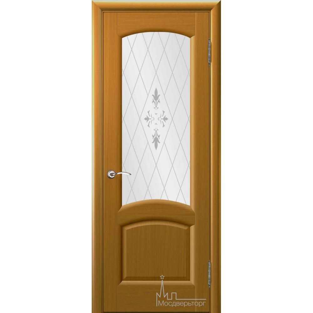 Межкомнатная дверь Лаура дуб Capri стекло