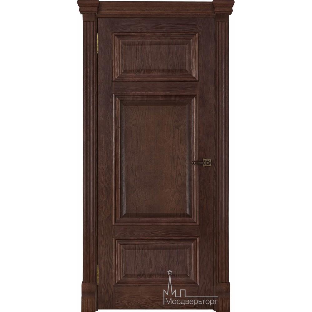 Межкомнатная дверь Мадрид, дуб Brandy, глухая