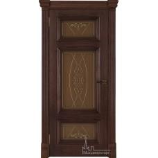 Межкомнатная дверь Мадрид, дуб Brandy стекло