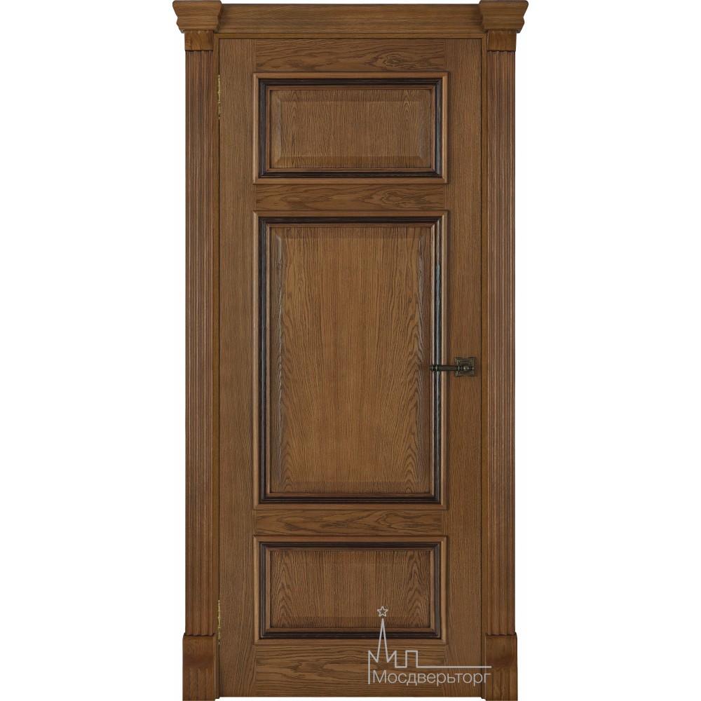 Межкомнатная дверь Мадрид, дуб патина Antico, глухая