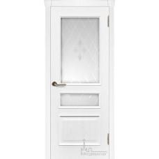 Межкомнатная дверь Милан ясень жемчуг, стекло Эстет