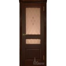 Межкомнатная дверь Милан дуб тон 2, стекло