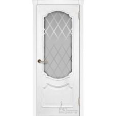 Межкомнатная дверь Монако ясень жемчуг, стекло