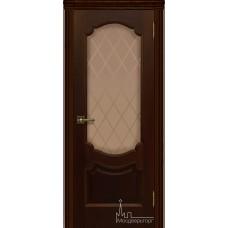 Межкомнатная дверь Монако дуб тон 2, стекло