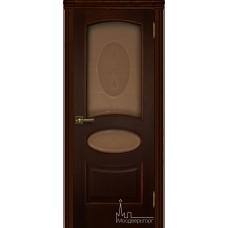 Межкомнатная дверь Оливия дуб тон 2, стекло