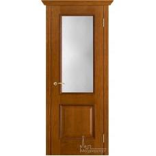 Межкомнатная дверь Шервуд античный дуб стекло классик