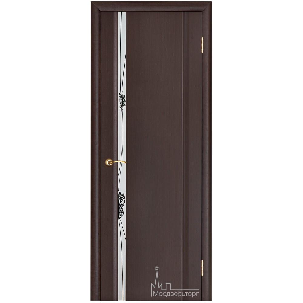 Межкомнатная дверь Стела 1 венге зеркальный триплекс