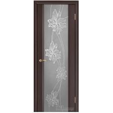 Межкомнатная дверь Стела 2 венге зеркальный триплекс