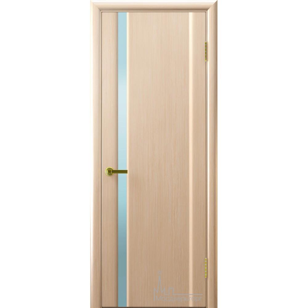 Межкомнатная дверь Техно 1 беленый дуб белый триплекс