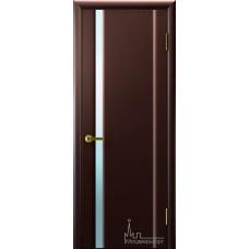 Межкомнатная дверь Техно 1 венге белый триплекс