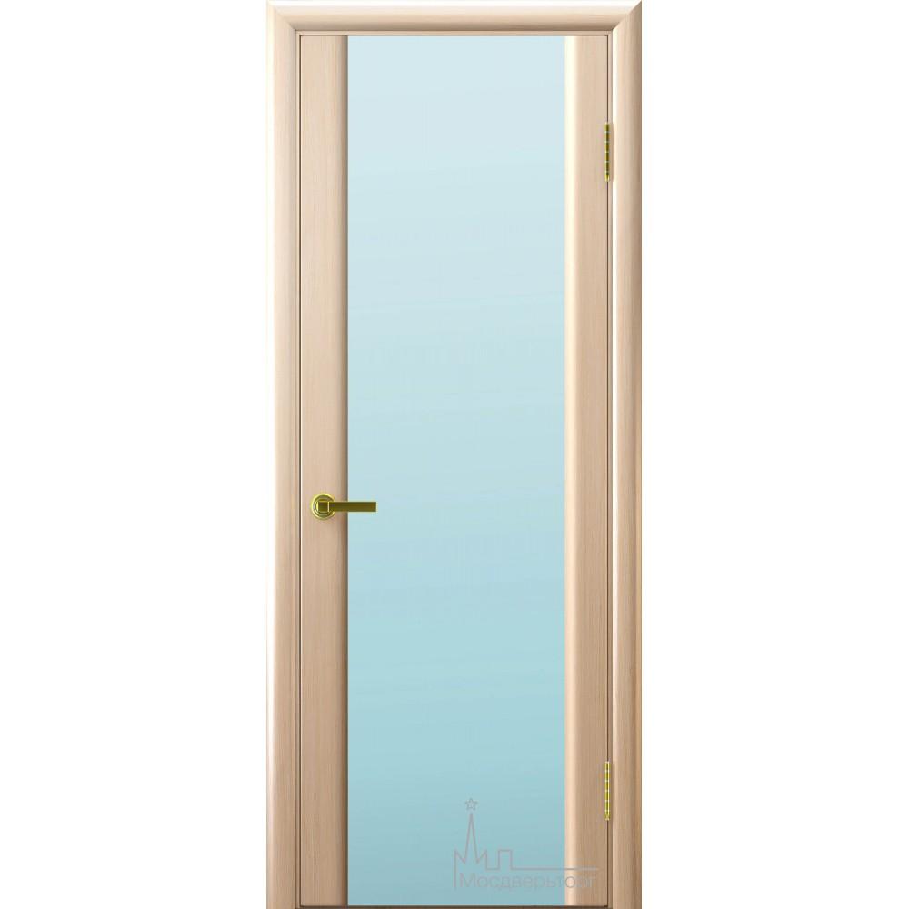 Межкомнатная дверь Техно 3 беленый дуб белый триплекс