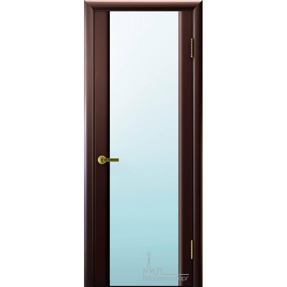 Межкомнатная дверь Техно 3 венге белый триплекс