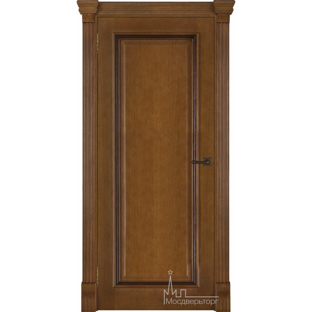 Межкомнатная дверь Тоскано, дуб патина Antico глухая