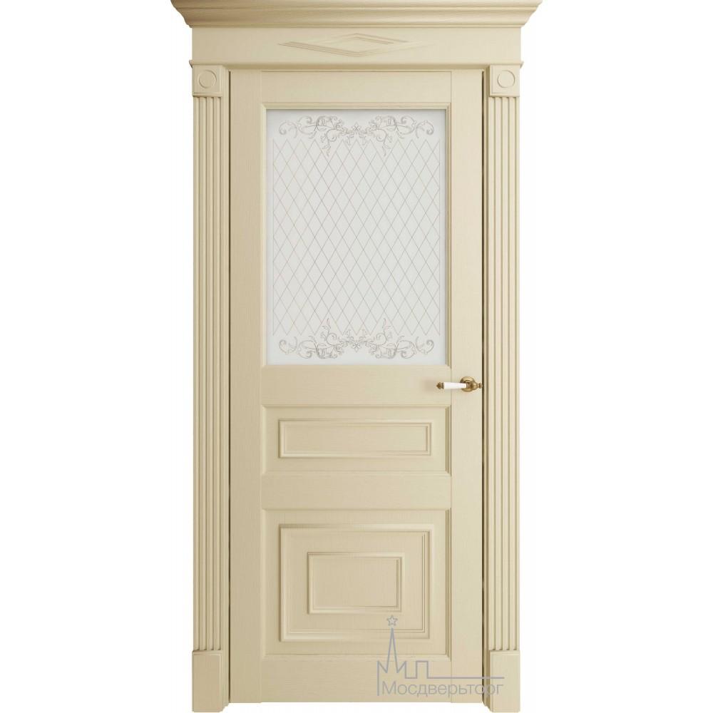 Межкомнатная дверь Экошпон 62001  керамика стекло