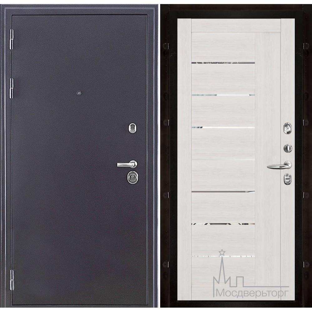 Колизей темное серебро панель 2110 Капучино велюр с зеркальными вставками