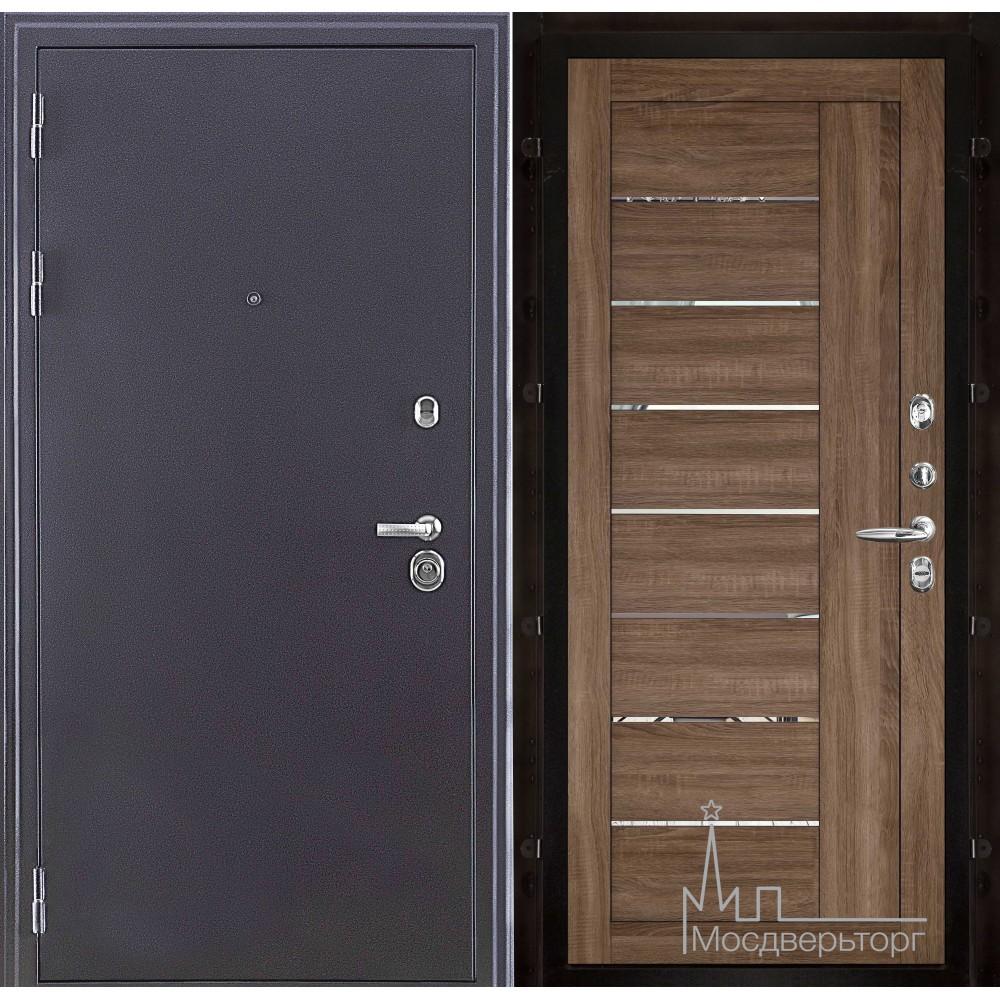 Колизей темное серебро панель 2110 Серый велюр с зеркальными вставками