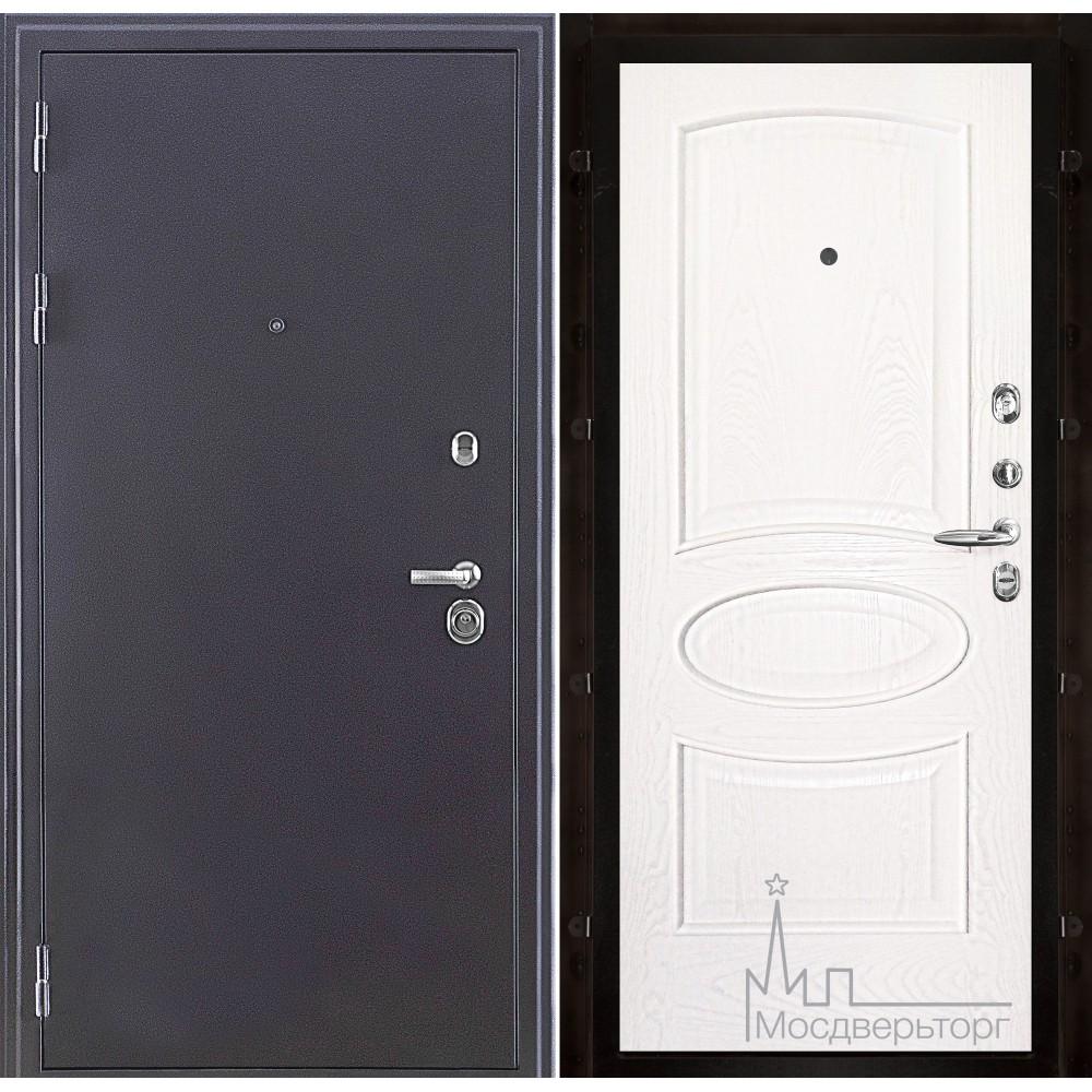 Входная дверь Колизей темное серебро панель Оливия Ясень жемчуг