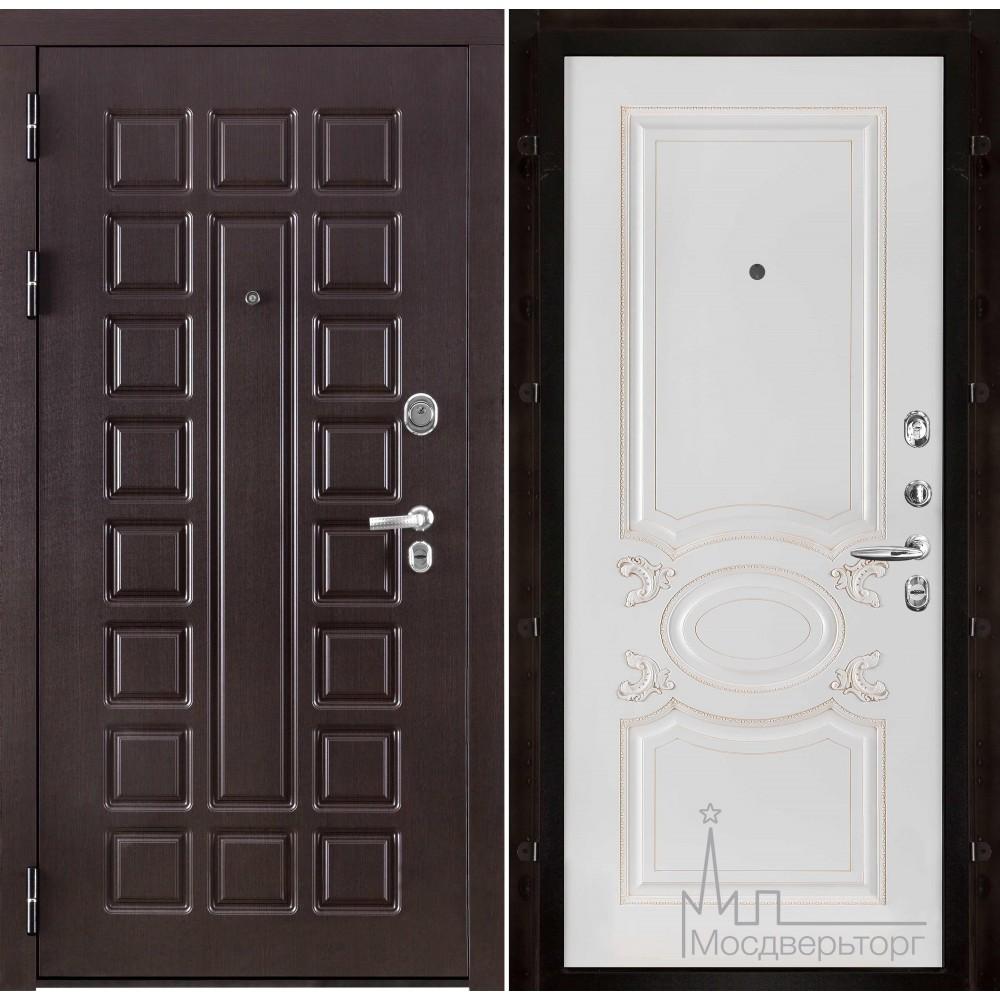 Входная дверь Сенатор, панель Аристократ белая эмаль