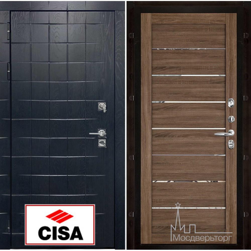 """Сенатор плюс, панель 2125 серый велюр с замком """"Cisa"""""""