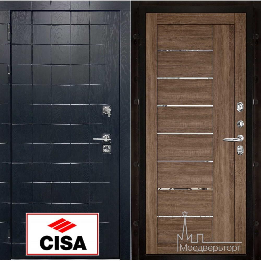 """Сенатор плюс, панель 2110 серый велюр с замком """"Cisa"""""""