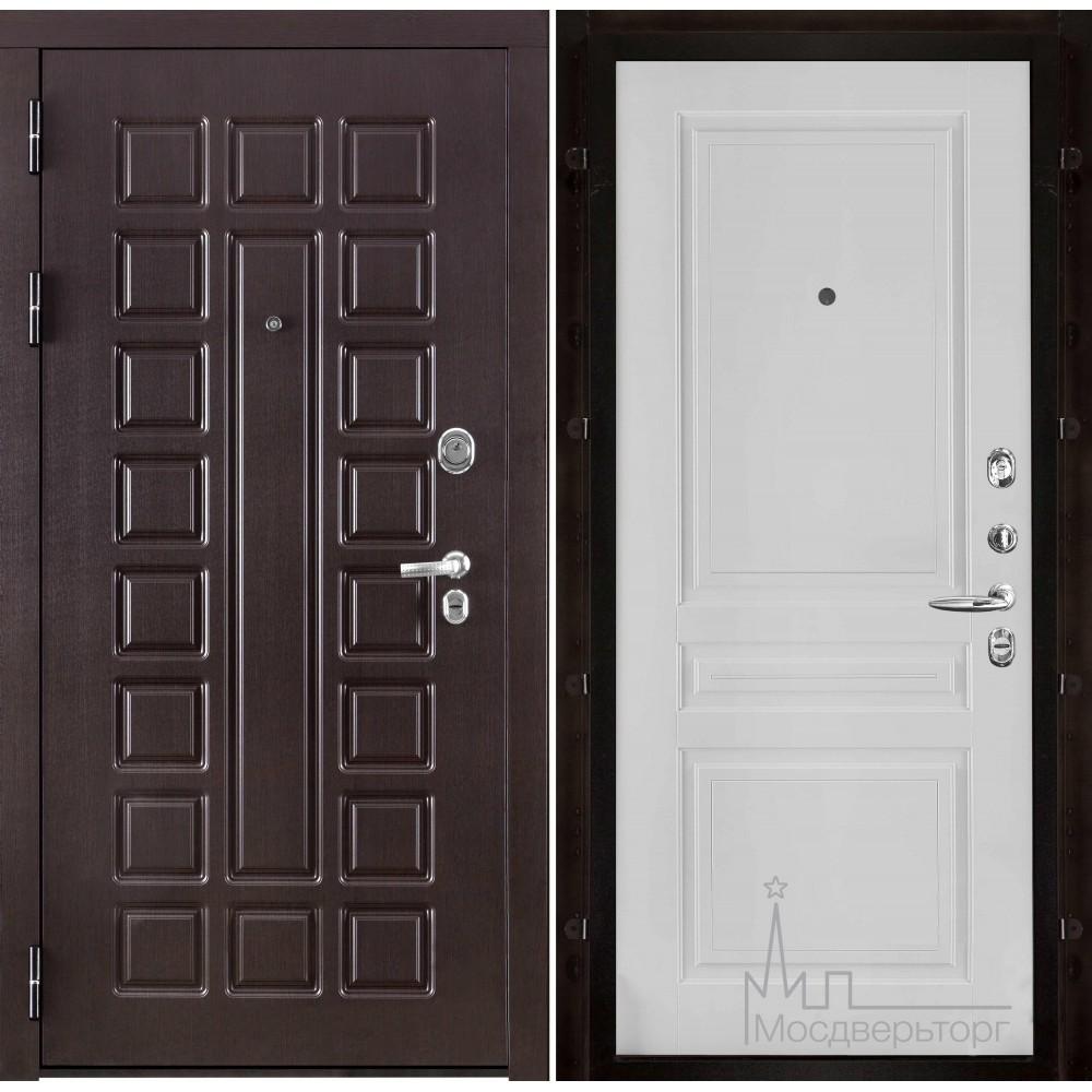 Входная дверь Сенатор, панель Турин эмаль белая