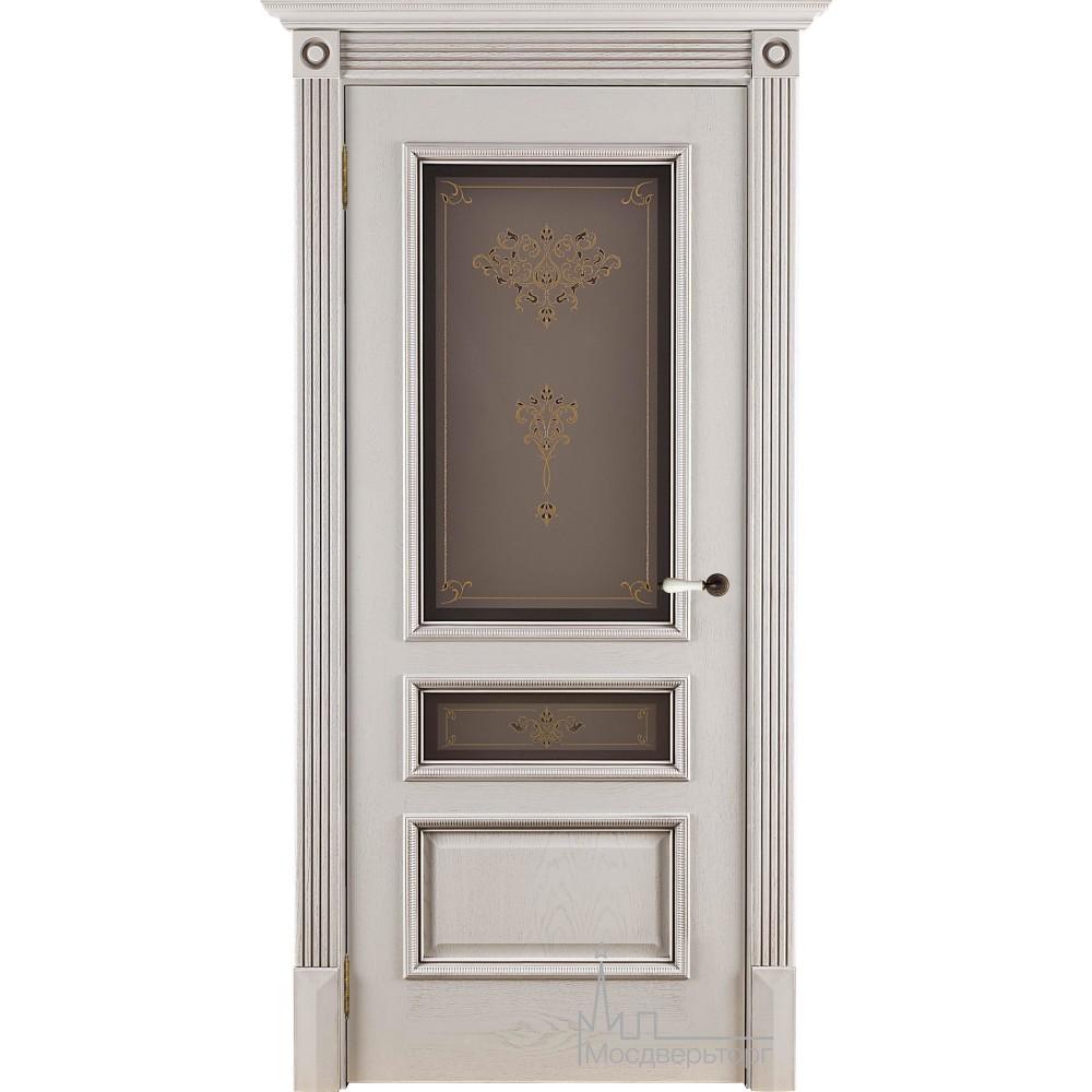 Межкомнатная дверь Вена нефрит тон 2, стекло