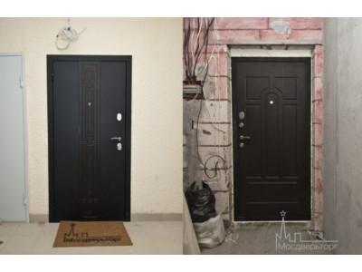 Металлические входные двери с установкай